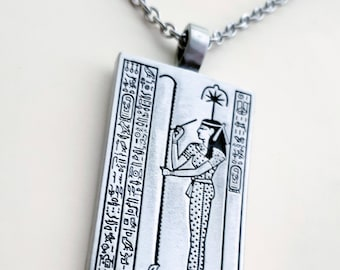 Seshat Pewter Necklace Egyptian Goddess of Writing, Wisdom and Knowledge