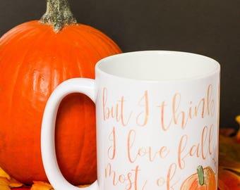 Fall Mug - Fall Lover Coffee Cup - Fall Lover Mug - Fall Mug - Pumpkin Mug -  Pumpkin Cup - Pumpkin Coffee Cup - Fall Lover Coffee Cup