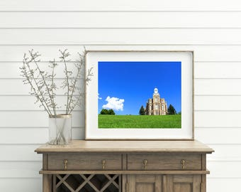 The Logan Utah LDS Temple // You Get 5 Sizes // Instant Digital Download