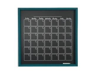 """Chalkboard Monthly Planner   24"""" x 24""""   2018 Planner   Chalk-Marker Compatible   Framed Chalkboard Planner   2018 Monthly Planner"""