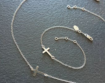 925 sterling silver Catholic Cross Necklace
