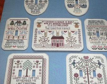 Vintage Stitches And Switches Mini Samplers Cross Stitch Pattern Leaflet