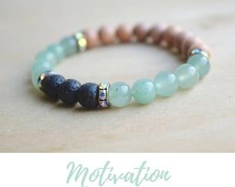 Mint Boho Bracelet / mom gift from son, boho green bracelet, mint green bracelet, mint bracelet, green bracelet boho, green aventurine