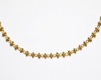 Firefly 16K Gold Plated Choker - Gold Necklace - Gold Chain Choker - Gold Chain Necklace - Gold Choker