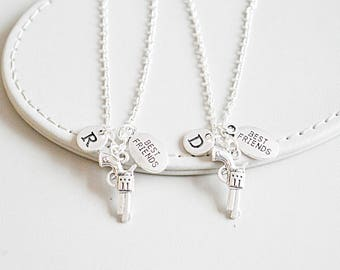 2 Best Friend Necklaces, Partner in Crime Necklaces, Friendship Necklace Set, Gift for Cousins, Graduation Gifts , Group gifts, BFF gifts