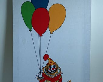 Vintage Clown Wall Hanging by .