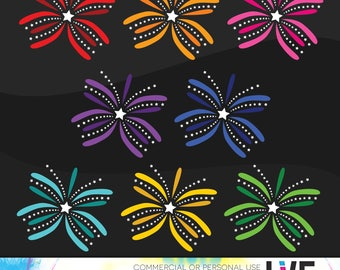 Colorful Fireworks Clip Art, 4th of July clipart, Fourth of July Fireworks clip art, Firework images, Party Clipart Instant Download