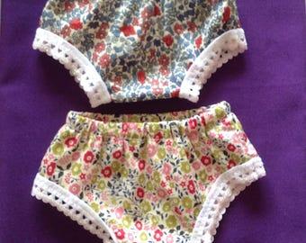 Sasha Doll 2 pairs Panties - Liberty of London Cotton Tana Lawn - Swing Your Panties!