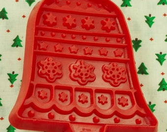 1980 Hallmark Red Bell Christmas Plastic Cookie Cutter
