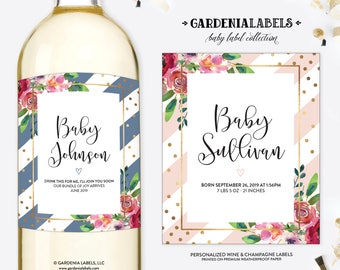Pregnancy Announcement Wine Label, Best Parents Promoted to Grandparents, Having a Baby Wine, Baby Announcement Label, Pregnancy Reveal Idea