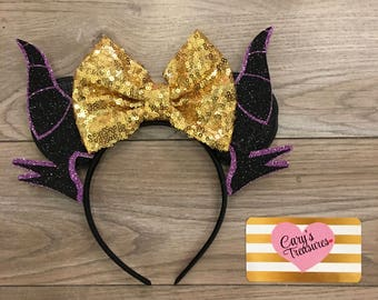 Maleficent Villain Mouse Ears