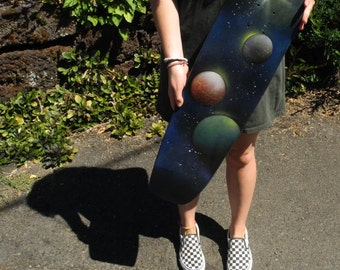 Upcycled Space Cruiser Skateboard Deck