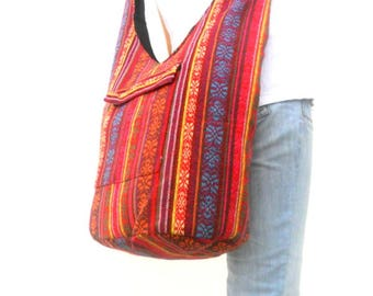Woven Sling Bag Ethnic Boho Bag Hobo Bag Hippie Bag Cotton Crossbody Shoulder Bag Messenger Bag Diaper Bag Casual Handbags  Everyday Bag
