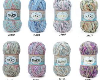 Nako Yarn, Nako LORA Yarn, Chunky Yarn, Turkish Yarn, Turkish Wool Yarn, Nako Wool Yarn, Winter Yarn, Autumn Yarn, Bulky Yarn, Chunky Knit
