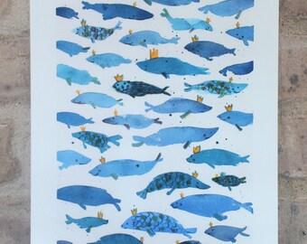 Crowned Fish - PRINT