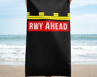 RWY AHEAD Pilot Towel, Pilot Gifts ideas, Airplanes, Fly, Aviation, Pilot Training, Pilot Wings