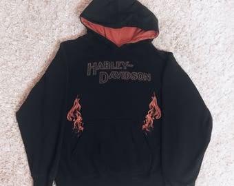 90's Harley Davidson Flame Sweater