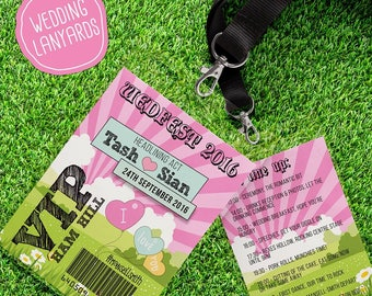 50 Personalised Wedfest Wedding Festival Lanyards