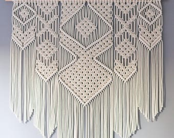 Macrame wall hanging, modern macrame, wall art, wall decor, fiber art, bohemian wall art, macrame tapestry