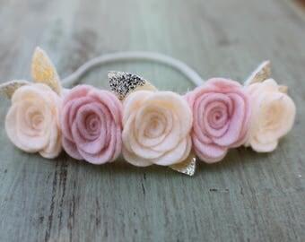 Newborn Rosette Crown