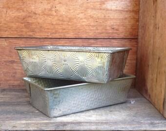 Vintage Loaf Pans, Lightweight Loaf Pans, RV Supply, Aluminum Pans, Vintage Kitchen Supply, Bakerex Crownware Bread Pan,