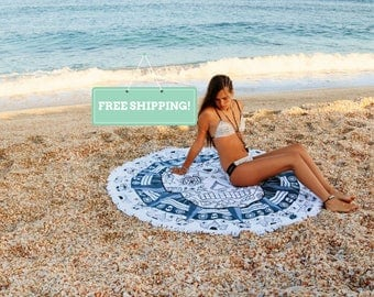 Round Beach Towels Roundie Towel Sugar Skull Circle Beach Towel Large Beach Towel Beach Sheet Large Beach Blanket