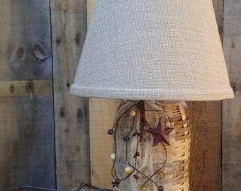 Handwoven Half Gallon Mason Jar Lamp