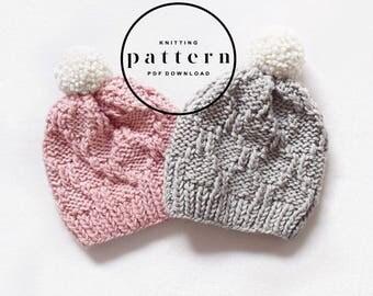 KNITTING PATTERN : Frida Hat 2.0 / knitting pattern, knitting hat pattern, beanie hat pattern knit, easy hat pattern, knit beanie pattern