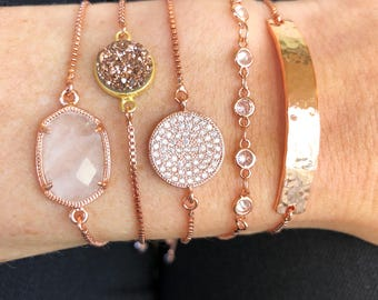 Slider Bracelet - Rose Gold