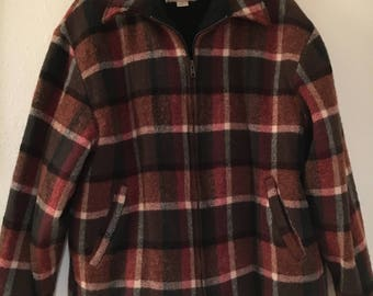 Woolrich Rugged Outdoorwear Plaid Wool Jacket Men's XL (more like large)