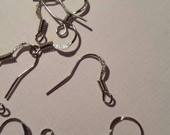 12 gray Silver earrings