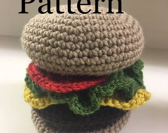 Cheeseburger plush (pattern)