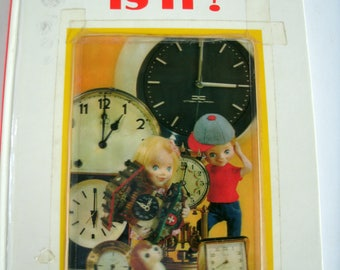 What Time Is It, Puppet Storybook, T Izawa, Vintage 1960s, 1968 Book