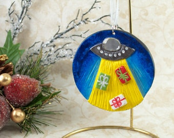 Alien Ornament, Alien Christmas Ornament, Alien Christmas, UFO Ornament, UFO Christmas, Flying Saucer Ornament, Alien Space Ship, Roswell