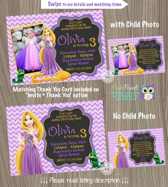 Rapunzel invitation tangled invitation tangled birthday invitation il570xn filmwisefo