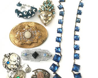 Vintage Jewelry and Finding Lot for Repair Repurpose Assemblage, Jewelry Lot, Vintage Jewelry Lot, Repurpose Lot, Upcycle Lot