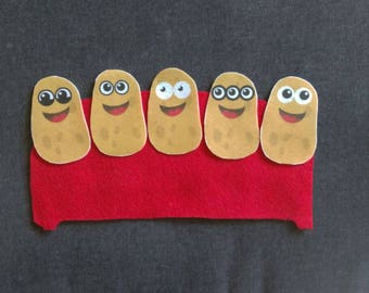 5 Potatoes Felt Story Set // Flannel Board Story Set // Preschool // Teacher Story // Counting // Outside Play