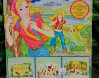 Barbie and Skipper Campsite At Lucky Lake A Paper Doll Playbook A Whitman Book