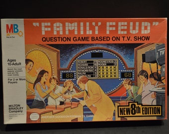 Vintage #4723 Milton Bradley Family Feud Game-8th Edition