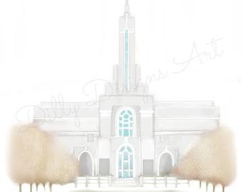 Printable, Timpanogos Temple, LDS Temples, Artwork, Wall Decor, Wall Art, Print, Poster, Mormon Temple, Timpanogos, Utah, Drawing, Gift, LDS