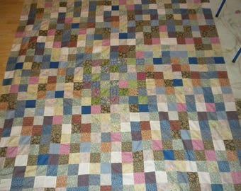 homemade quilt top 77x86 Scrappy quilt