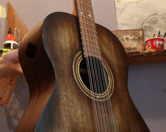 Leadbelly jumbo size baritone guitar 12-strings- made to order (two months waiting list)