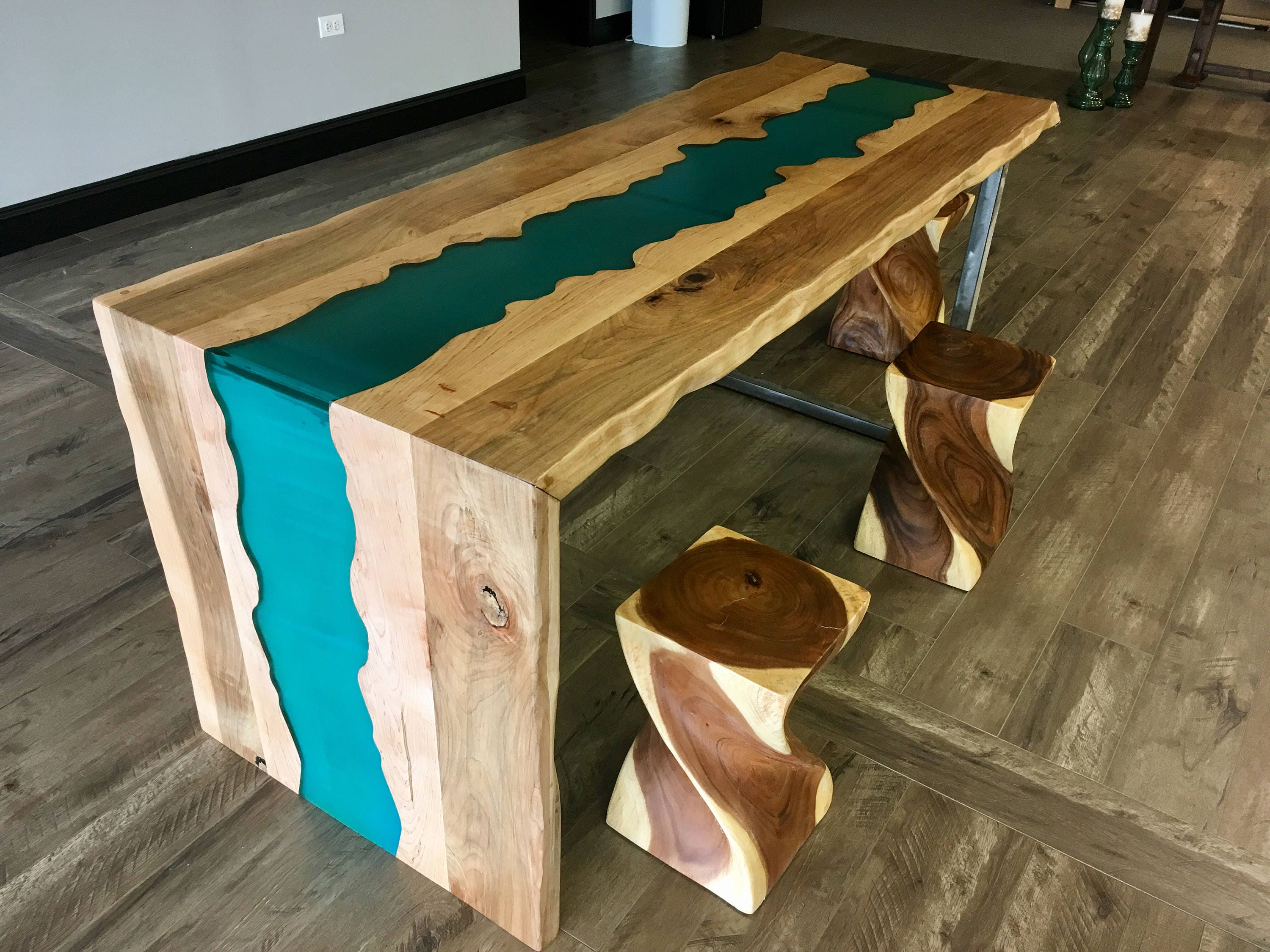 Sold Stunning Ambrosia Maple Live Edge Waterfall Table With