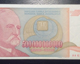 500 billions banknote,Yugoslavia paper money,1993