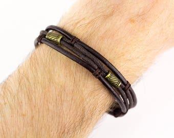 Brown Rope Bracelet, Mens Rope Bracelet, Mens Brown Bracelet, Rope Charm Bracelet, Men Rope Bracelet, Brown Mens Bracelet, Brown Bracelet