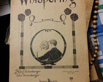 Whispering Schonberger 1920 Vintage Sheet Music