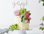 Cake Topper Wedding, Yay Wire Cake Topper, Copper Cake Topper, Party Decoration, Metallic Cake Topper, Yay cake topper, cake toppers,