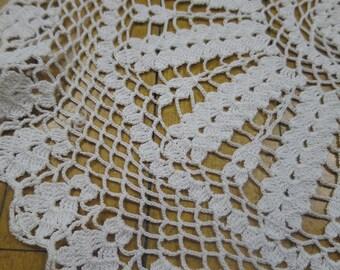 Vintage Hand Crochet Table Topper Doily