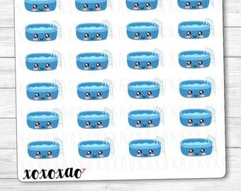 B039 | Swimming Pool Kawaii Planner Stickers