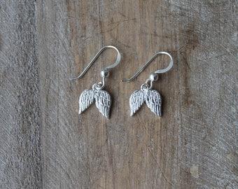 Wings sterling silver earrings